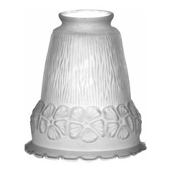 """Renovators Supply - Lamp Shades Frosted Glass Lamp Shade 5 1/2"""""""" H 2 1/4"""""""" Fitter 