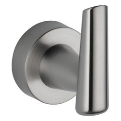 Delta - Delta 77135-SS Grail Robe Hook in Stainless - Delta 77135-SS Grail Robe Hook in StainlessInspired by the sleek lines of contemporary European design, Grail combines an urban look with a delightfully intimate feel.  Getting ready in the morning is far from routine when you are surrounded by a bath that reflects your personal style.  Sometimes accessories make all the difference and that's why Delta offers a variety of bath accessory items.  The Grail Collection is available in a full suite of products and accessories to provide a coordinated look to your bath.Delta 77135-SS Grail Robe Hook in Stainless, Features:• Wood blocking is preferable behind all wall surfaces