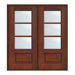 "Prehung French Single Door 96 Wood Mahogany Full Lite 12 Lite - SKU#    MCR06-SDL3_DF34D32Brand    GlassCraftDoor Type    FrenchManufacturer Collection    3 Lite French DoorsDoor Model    3 LiteDoor Material    FiberglassWoodgrain    Veneer    Price    3370Door Size Options    2(32"")[5'-4""]  $02(36"")[6'-0""]  $0Core Type    Door Style    Door Lite Style    3/4 Lite , 3 LiteDoor Panel Style    1 PanelHome Style Matching    Door Construction    TDLPrehanging Options    Prehung , ImpactPrehung Configuration    Double DoorDoor Thickness (Inches)    1.75Glass Thickness (Inches)    Glass Type    Double GlazedGlass Caming    Glass Features    Tempered glassGlass Style    Glass Texture    ClearGlass Obscurity    No ObscurityDoor Features    Door Approvals    TCEQ , Wind-load Rated , AMD , NFRC-IG , IRC , NFRC-Safety GlassDoor Finishes    Door Accessories    Weight (lbs)    603Crating Size    25"" (w)x 108"" (l)x 52"" (h)Lead Time    Slab Doors: 7 Business DaysPrehung:14 Business DaysPrefinished, PreHung:21 Business DaysWarranty    Five (5) years limited warranty for the Fiberglass FinishThree (3) years limited warranty for MasterGrain Door Panel"