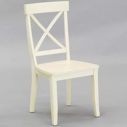 """Home Styles - Side Chair (Set of 2) - This side chair gives off the feeling of elegance, every time you sit in it. The chair itself features a stylish finish over its wood construction. It is sure to brighten any room with its simple beauty. Features: -Set of two chairs.-Stylish cross back.-Wood construction.-Distressed: No.-Powder Coated Finish: No.-Gloss Finish: No.-Frame Material: Wood.-Solid Wood Construction: No.-Number of Items Included: 2.-Weather Resistant or Weatherproof: No.-Scratch Resistant : No.-Rust Resistant: No.-Stain Resistant: No.-Fire Retardant: No.-Mildew Resistant: No.-Arms Included: No.-Upholstered Seat: No.-Upholstered Back: No.-Swivel: No.-Foldable: No.-Stackable: No.-Number of Legs: 4.-Leg Material: Wood.-Casters: No.-Saddle Seat: No.-Outdoor Use: No.-Swatch Available: No.-Commercial Use: No.-Recycled Content: No.-Eco-Friendly: Yes.-Product Care: Clean with a damp cloth.Specifications: -FSC Certified: Yes.-ISTA 3A Certified: Yes.Dimensions: -Overall Product Weight: 23 lbs.-Overall Height - Top to Bottom: 38.5"""".-Overall Width - Side to Side: 19.25"""".-Overall Depth - Front to Back: 22.5"""".-Seat Height: 17.75"""".-Seat Width - Side to Side: 17.375"""".-Seat Depth - Front to Back: 17"""".-Arms : No.Assembly: -Assembly Required: Yes.-Tools Needed: Phillips screwdriver.-Additional Parts Required: No.Warranty: -Product Warranty: Vendor replaces parts for 30 days."""