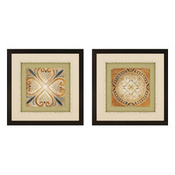 Paragon - Petite Tiles II PK/2 - Framed Art - Each product is custom made upon order so there might be small variations from the picture displayed. No two pieces are exactly alike.