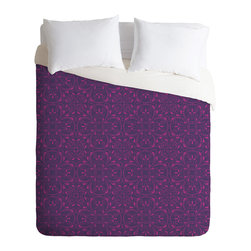 DENY Designs - Khristian A Howell Provencal Lavender 1 Duvet Cover - Turn your basic, boring down comforter into the super stylish focal point of your bedroom. Our Luxe Duvet is made from a heavy-weight luxurious woven polyester with a 50% cotton/50% polyester cream bottom. It also includes a hidden zipper with interior corner ties to secure your comforter. it's comfy, fade-resistant, and custom printed for each and every customer.