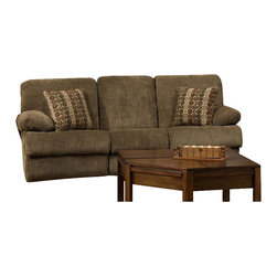 Catnapper - Catnapper Harbor Reclining Sofa in Tobacco and Merlot - Catnapper - Sofas - 1881182219202219 - The Harbor Collection by Catnapper brings relaxed atmosphere with its casual contemporary styling. The entire collection offers reclining sofa relining console loveseat with storage and cupholders sectional and chaise rocker recliner. The pieces are upholstered in super soft textural tobacco chenille cover and they offer merlot pattern correlating bolster pillows. Comfortable chaise pad seating warm tones and luxurious burl finish accents make this collection fit in any decor!