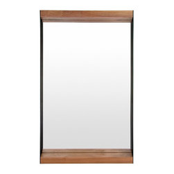 Blu Dot - Blu Dot Mirror Mirror - Small - As you know, it's a good idea to take a final glance in a mirror before you head out into the world. This stunning mirror gives you the opportunity to stay stunning as well, as you put wild hair in place or check those nostrils. Whew!