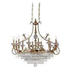 Crystorama Lighting - Crystorama Lighting 5279-AG-CL-MWP Regal Traditional Island Light in Aged Brass - Crystorama Lighting 5279-AG-CL-MWP Regal Traditional Island Light In Aged Brass With Clear Hand Cut Crystal