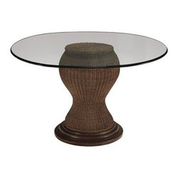 Kincaid - Kincaid American Journal Seagrass Dining Table Base 68-052BFantastic piece of furniture by Kincaid to make your loft look beautiful. Everyone dreams of an ideal home and to make it look attractive one should furnish it with excellent pieces of furniture for the magnificence of the loft. Dimension of the dining table base and glass top are: 24 DIA X 29 Hand 48 DIA X 30 H respectively. With the use of glass top designers have designed it skillfully.  Furniture size and look should be appropriate according to the room. It should not empower the beauty of room or it should not be too small so that the room looks empty. Kincaid American journal collection has perfect furnishings for your loft. SKU: 68-052BCollection: American JournalWeight(lbs): 57Volume: 11.968-052B Seagrass Dining Table Base - 24 DIA X 29 H68-052T Round Glass Top -48 DIA X 30 H (overall)Manufacturer: Kincaid Furniture