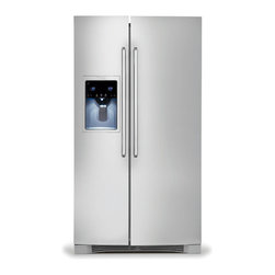 """Standard-Depth Side-By-Side Refrigerator with Wave-Touch® Controls - Features a 9"""" tall water and ice dispenser, Luxury-Design® glass shelves, Luxury-Glide® crisper drawers, Luxury-Design® lighting, Perfect Set® temperature controls, a Fast Ice™ option, PureAdvantage® air and water filters and Wave-Touch® controls."""