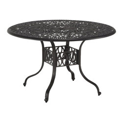Home Styles - Home Styles Floral Blossom Round Dining Table in Charcoal-42 Inch - Home Styles - Dining Tables - 555830 - By combining outdoor elements such as ceremonial and abstract floral designs the Floral Blossom Round Dining Table by Home Style is brought to life.