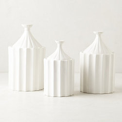 Anthropologie - Ridged Canister - Swap out your current canisters for something new like these ridged pieces. They're so pretty that you could probably even use them in another room in the house.