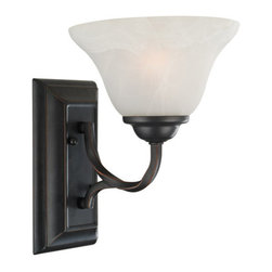 Design House - Design House 514927 Drake Rustic 1 Light Up / Down Lighting Wall Sconce with Ala - Design House Drake 1 Light Wall MountThe Rustic Charm Of The Twisted Rods, The Classic Lines And The Bronze Finish Of The Drake Family Make It A Perfect Choice For A Multitude Of Décors.