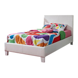 Standard Furniture - Standard Furniture Fantasia Upholstered Kids Bed in White Vinyl - Full - FantasiaóÇÖs fully upholstered beds, storage ottomans and cubes add stylish pizzazz and storage options to youth bedroom.