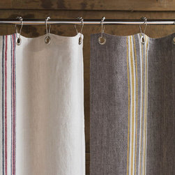 Coyuchi Rustic Linen Shower Curtain - How much do we love these? Great shower curtains are hard to find and this classic linen finish brings texture and and style to an often featureless area in the bathroom. Love these.