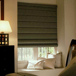Comfortex - Comfortex Envision Roman Shades: Bora Bora Blackout - Bora Bora fabric features texturing inspired by tropical grasses.  Bring sophisticated warmth and style to your windows with the beauty of Comfortex Envision Roman Shades.