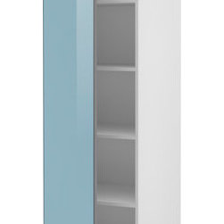 Mikael Warnhammar/IKEA of Sweden - AKURUM High cabinet with shelves - High cabinet with shelves, white, Rubrik light turquoise