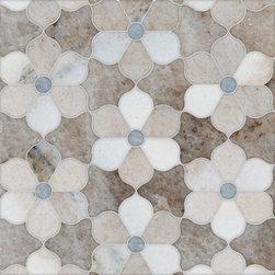 Talya Multi Finish 12 1/8x14 Theodora Pa Sky Al Marble Waterjet Mosaics -