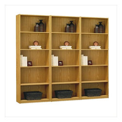 Ameriwood - Ameriwood 5-Shelf Wall Bookcase in Native Oak - Ameriwood - Bookcases - 9425052PKG - Ameriwood Industries 5-Shelf Bookcase in Native Oak (included quantity: 3)