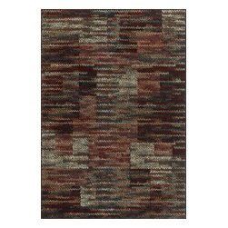 """Loloi Rugs - Loloi Rugs Vista Collection - Rust / Multi, 2'-5"""" x 7'-7"""" - Power loomed in Egypt, the Vista Collection offers striking pattern inspired by ethnic textiles. All nine designs share a color palette of desert hues like rust, taupe, and more on a 100% polypropylene fiber for strong durability. Available in six sizes including a scatter and a runner."""