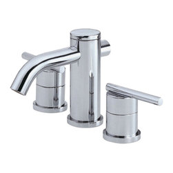 """Danze - Danze D304058 Chrome Widespead Faucet Two Handle - Danze D304058 Chrome Two Handle Widespread Lavatory Faucet is part of the Parma Bath collection.  D304058 3 hole 6""""-12"""" Widespread lav faucet has a 5"""" long and 3"""" high spout, with metal pop-up drain.  D304058 Two lever handles meets all requirements of ADA.  California and Vermont compliant."""