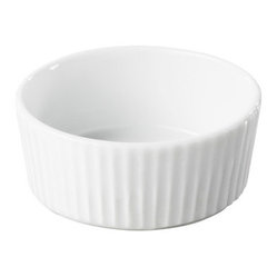Revol - Revol Porcelain Miniature Round White Ramekin - A ramekin never looked so chic. The versatility of this one's gently fluted design renders it both pretty and practical, perfect for an aesthetic minded chef. Use this one not only for your mise en place in the kitchen, but also to serve appetizers, tapas or desserts.