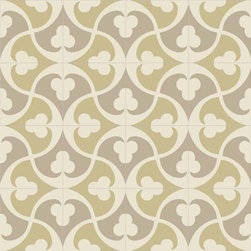 Mission Tile Trebol - This tile pattern is really feminine and groovy. I really like the faded, muted colors for such a funky pattern.