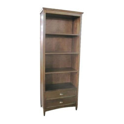 Wayborn - Book Shelf w Bottom Drawers - Made from Birchwood. Smooth finish. Assembly required. 32 in. W x 16 in. D x 82 in. H (138 lbs.)