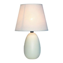 Simple Designs - Simple Designs Lamps 9.45 in. Small Off White Oval Ceramic Table Lamp LT2009-OFF - Shop for Lighting & Ceiling Fans at The Home Depot. A lovely inexpensive and practical table lamp to meet your basic fashion lighting needs. This 9.5 in. tall lamp features a off white ceramic base and matching fabric shade. Perfect for living room bedroom office kids room or college dorm.