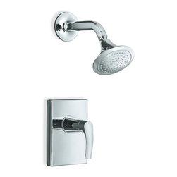 KOHLER - KOHLER K-T18489-4-CP Symbol Rite-Temp Pressure-Balancing Shower Faucet Trim - KOHLER K-T18489-4-CP Symbol Rite-Temp Pressure-Balancing Shower Faucet Trim in Chrome