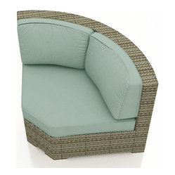 Hampton Outdoor Sectional 45 Degree Corner, Spa Cushions