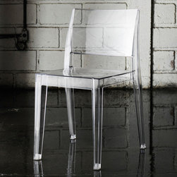 Modloft - Gower Dining Chair in Clear - Gower dining chair features polycarbonate construction in clear, opaque, or translucent colored finishes. Measures 20 x 20 x 31. Sold in sets of 4 only. Price shown is for each. Made in Turkey. Imported.