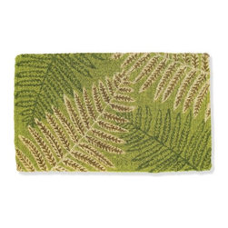 Fern Doormat - This doormat has a great, welcoming feel to it. Sometimes a fern motif can be a bit trite but this pattern is bold. The greens and brown colors are muted so the graphic pattern comes through.