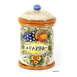 Artistica - Hand Made in Italy - Tuscania: Canister Farina - Tuscania is the Latin name for the Italian Tuscany region, a center for art, culture and beauty - and the inspiration for Tuscania ceramics.