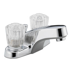 Delta Two Handle Lavatory Faucet - P245LF-M - Sensible styling that complements any home.