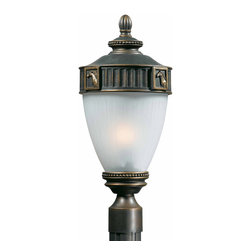 Triarch International - Triarch 75335-14 Stallion Oil Rubbed Bronze Outdoor Post Light - Triarch 75335-14 Stallion Oil Rubbed Bronze Outdoor Post Light