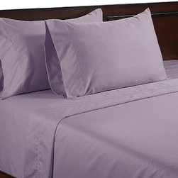 None - Color Sense Egyptian Cotton Silky Touch 400 Thread Count Sheet Set - Slide in to bed and enjoy this silky smooth 400 thread count Egyptian cotton silky sheet set. These silky touch sheets are sateen sheets made from 100 percent Egyptian cotton in full,queen and king sizes.