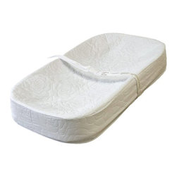 LA Baby - LA Baby Cocoon Changing Pad - 3400-30Q - Shop for Baby Diaper Changing Pads from Hayneedle.com! Change your baby's diaper in superior comfort with the LA Baby Cocoon Changing Pad. The ergonomic four-sided design helps to prevent your baby from rolling off and is so cozy that baby won't squirm while you complete this frequent task. A quick release safety belt and secure snap-on mounting system also help ease your mind. The waterproof non-toxic vinyl cover wipes clean and is easy to disinfect. Add this changing pad to your dresser or changing table to make diaper duty more enjoyable for you and your baby.About LA BabyL.A. Baby is an award-winning division of Amwan a manufacturer and distributor of fine quality juvenile furniture. With products designed for residential and commercial use L.A. Baby items can be found in homes day cares and hotels. Based in City of Industry California L.A. Baby offers a wide range of baby items including cribs strollers safety gates changing pads and high chairs.