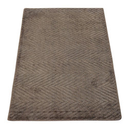 1800-Get-A-Rug - Oriental Rug Hand Loomed Bamboo Silk Zig Zag Design Modern Sh20137 - Our Modern & Contemporary hand knotted rug collection contains some of the latest designs in the industry. The range includes geometric, transitional, abstract, and modern designs; from the Tibetans to the Gabbeh. We offer an entire line of contemporary designs, whether you're searching for sophisticated and muted to the vibrant and bold handmade rugs.