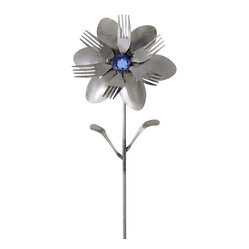 Forked Up Art - Aphrodite - Flower - A great display for the garden!