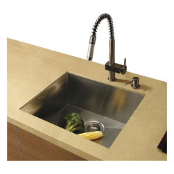 Vigo - Vigo Undermount Stainless Steel Kitchen Sink, Faucet and Dispenser - Get everything you need with this complete kitchen set that will revitalize the look of your kitchen