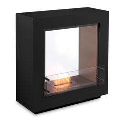 EcoSmart Fire - EcoSmart Fire Fusion Fireplace - The Designer Range showcases our freestanding models, which are delivered fully assembled, ready to be placed where you wish, and are operational immediately. There are no installation or building works required. Ideal for apartment or home owners where space is limited and chimneys aren't a possibility, and very popular with tenants who would like ambient heating that moves when they do. Model includes Burner Kit and Wind Screen Static.