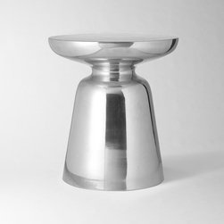 Martini Side Table, Silver - Whether you're sipping a cocktail or hot chocolate, your drink will look grand set on the elegant Martini side table. It's the perfect way to add a glam note to your living space.