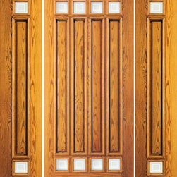 "Pre-hung Mahogany 8 Lite Entry Two Side lights Door - SKU#    114-1-2Brand    AAWDoor Type    ExteriorManufacturer Collection    Unique Entry DoorsDoor Model    Door Material    WoodWoodgrain    MahoganyVeneer    Price    2960Door Size Options    [30""+2(12"") x 80""] (4'-6"" x 6'-8"")  $0[30""+2(18"") x 80""] (5'-6"" x 6'-8"")  $0[36""+2(12"") x 80""] (5'-0"" x 6'-8"")  +$10[36""+2(18"") x 80""] (6'-0"" x 6'-8"")  +$10Core Type    SolidDoor Style    ModernDoor Lite Style    8 LiteDoor Panel Style    4 Panel , Raised MouldingHome Style Matching    Colonial , Plantation , Victorian , ContemporaryDoor Construction    Engineered Stiles and RailsPrehanging Options    PrehungPrehung Configuration    Door with Two SidelitesDoor Thickness (Inches)    1.75Glass Thickness (Inches)    1/4Glass Type    Single GlazedGlass Caming    Glass Features    TemperedGlass Style    Glass Texture    Matte SquareGlass Obscurity    High ObscurityDoor Features    Door Approvals    FSCDoor Finishes    Door Accessories    Weight (lbs)    850Crating Size    25"" (w)x 108"" (l)x 52"" (h)Lead Time    Slab Doors: 7 daysPrehung:14 daysPrefinished, PreHung:21 daysWarranty    1 Year Limited Manufacturer WarrantyHere you can download warranty PDF document."