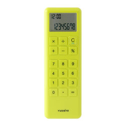 IDEA International - Mobile Calculator - Green - This calculator can operate with single hand or even just a thumb like text SMS. Light and slim size is fitting very well and do not pick the place to use; while on shopping, calling or business. Thanks to shiny colorful body colors and enclosed strap, you can put this calculator like an accessory.
