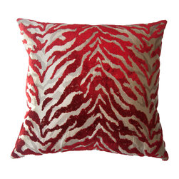 Squarefeathers - Bella Exotic Pillow, *Exclusive to Houzz* - Give your living space character with the chic Bella Exotic Pillow. It will take you on an adventure through its layers of animal print and then end your journey with its soft velvet back. Like all of our products, this pillow is handmade, made to order exclusively in our studio.  The Bella Collection is the definition of couture interior design.