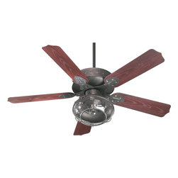 Quorum Lighting - Quorum Lighting Patio Ceiling Fan Light Kit X-448-5731 - Ceiling fan light kit is compatible with most ceiling fans. However, we cannot guarantee compatibility on this light kit across different ceiling fan brands.