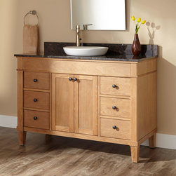 "48"" Marilla Vanity for Semi-Recessed Sink - Ideal for those who want a natural and unobtrusive storage option for the bath, the Marilla is an excellent pick. This spacious 48"" cabinet has six drawers and two doors with soft-closing hinges."