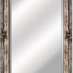 YOSEMITE HOME DECOR - Golden Silver Framed Mirror - Mirror of Antique Wood Resin frame with intricate detailing