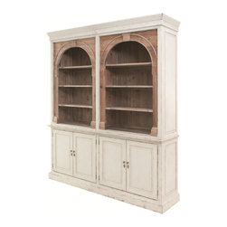 Marco Polo Imports - Grantham Cabinet - Drawing inspiration from early French and American architecture, the Grantham cabinet combines modern functionality with stately elegance. Made using  woods reclaimed from old buildings for a found appeal that is as striking as it is livable. With unique characteristics defined by the geographic region from which the timbers originate, the wood is bleached, sanded and finished to heighten the woods' raw beauty.