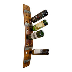 Alpine Wine Design - Wine Barrel Wall Wine Rack 12 - Keep your favorite varietals carefully corralled in this beautifully crafted wine rack. Made by hand from Napa Valley wine barrel staves and accented by the original metal barrel bands, it brings a taste of the wine country to your abode.