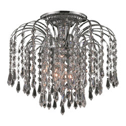 Elegant Lighting - Elegant Lighting 6801F12C/RC Falls Collection Flush Mount - Elegant Lighting 6801F12C/RC Falls Collection Flush Mount
