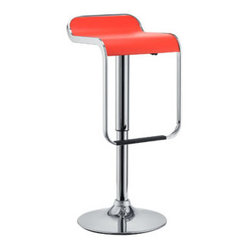 LEM Piston Style Vinyl Bar Stool in Red
